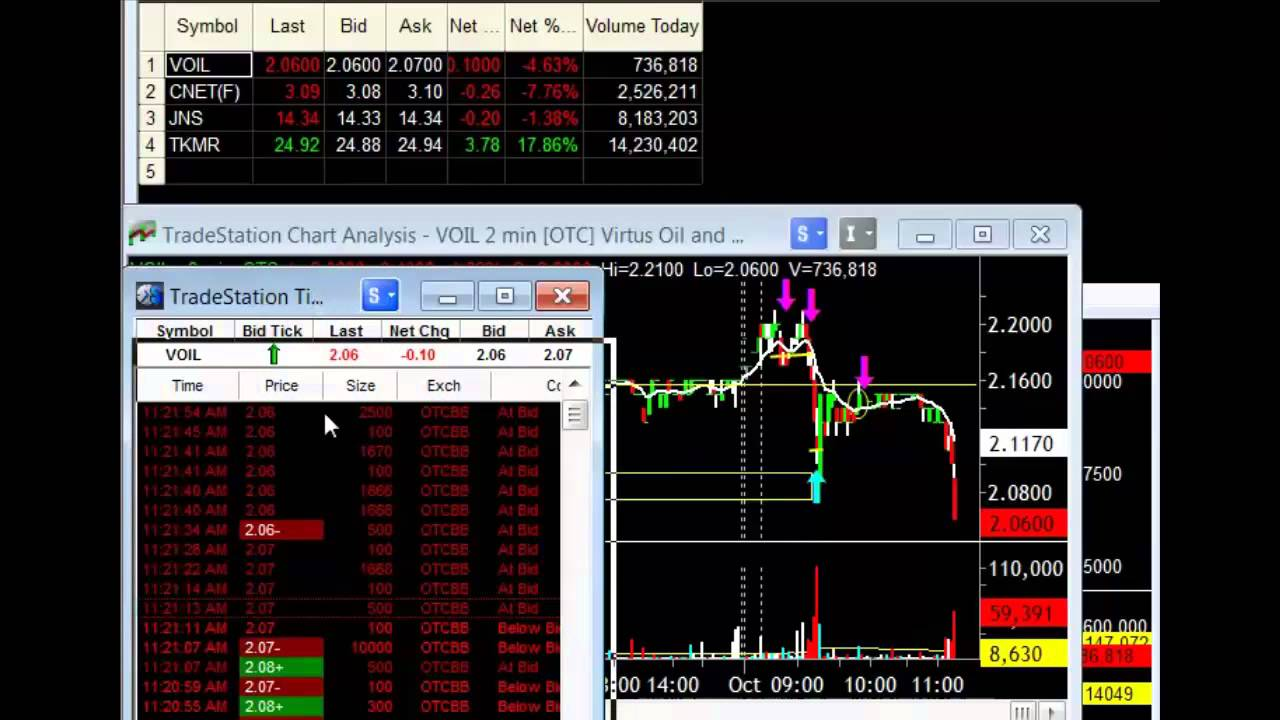 Live Stock Trading Video (Profiting From Stock Market Hype)
