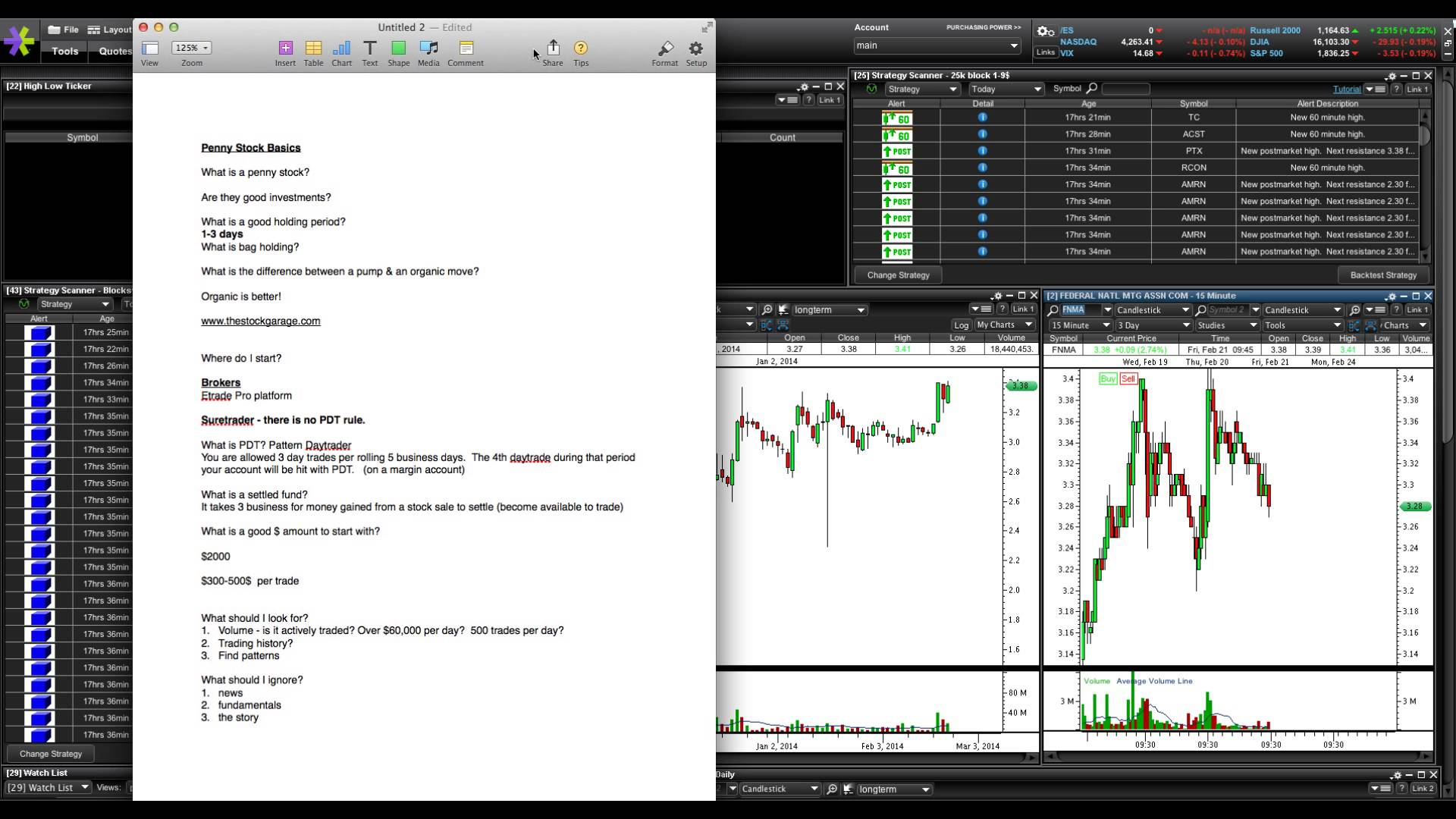 Penny Stock Basics Part 1