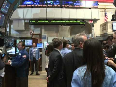 Tense trading at NY Stock Exchange