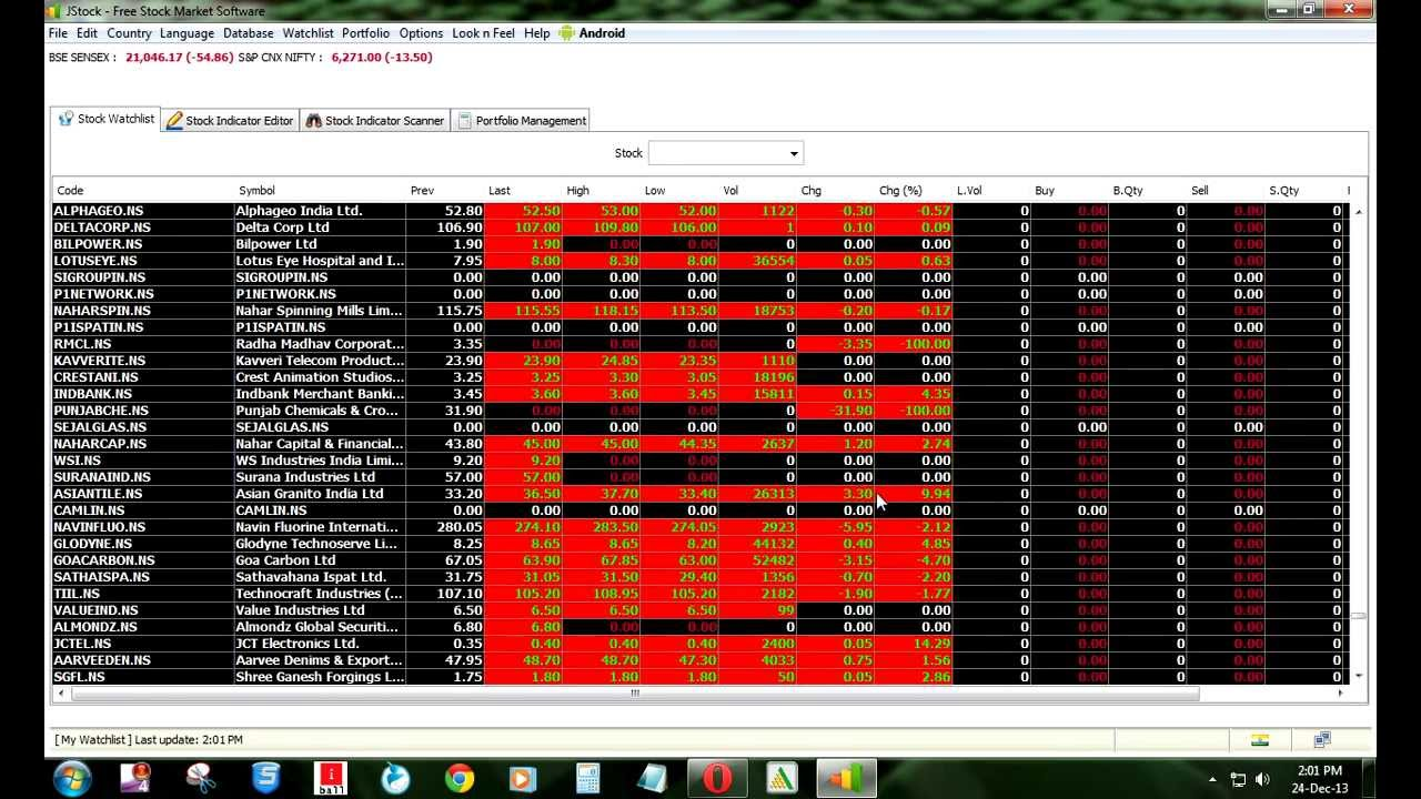 Free Stock Market Software For Intraday Trading By Jstock  In Tamil