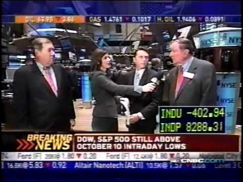 October 24th 2008 CNBC Stock Market Opening Bell (Stock Futures Hit Limit Down)