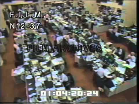 1987 Stock Market Crash (stock footage / archival footage)