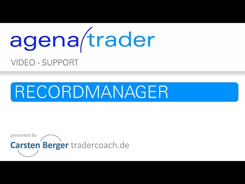 Trading Software AgenaTrader: Recordmanager