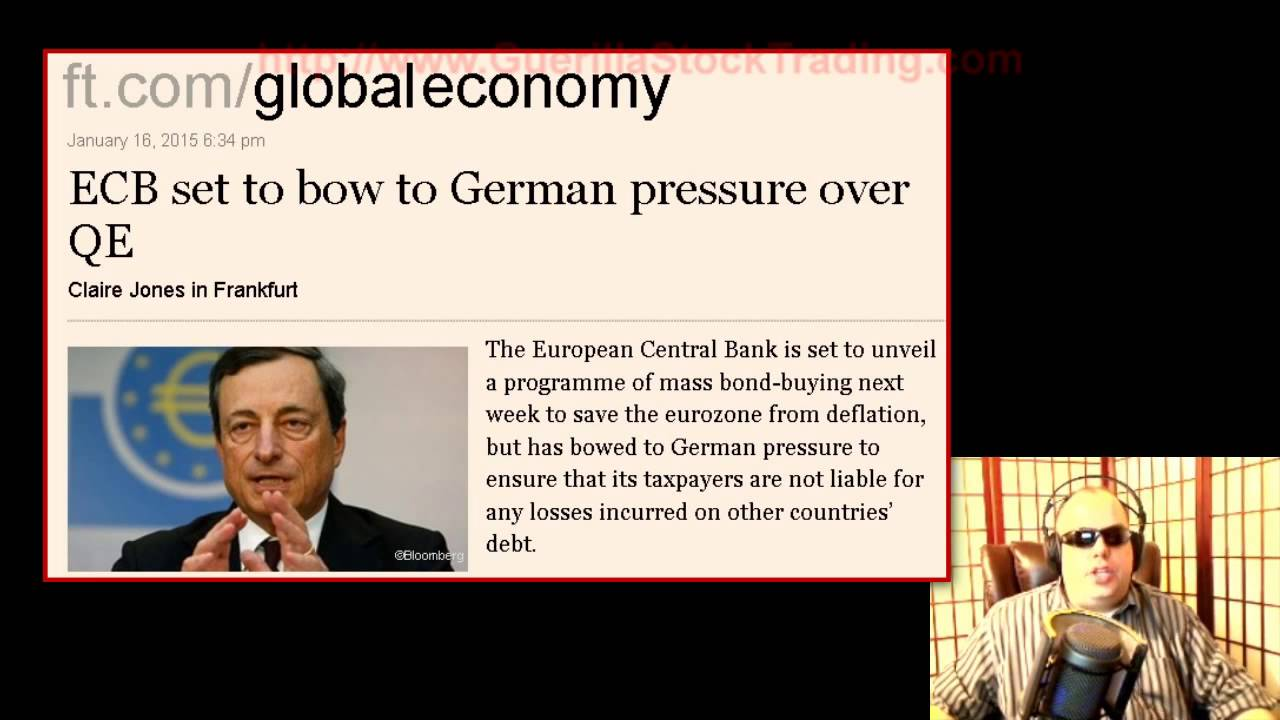 Stock Market News: ECB QE Likely Coming January 22 2015