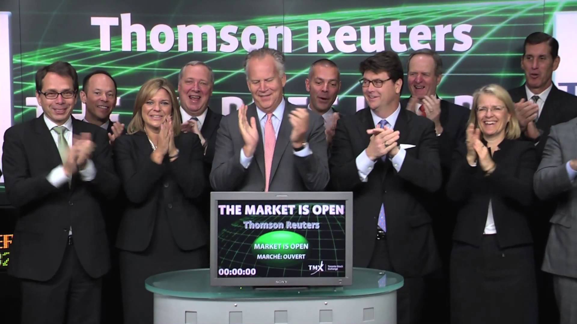 Thomson Reuters (TRI:TSX) opens Toronto Stock Exchange October 8, 2014