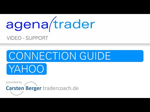 Trading Software AgenaTrader: Connection Guide Yahoo