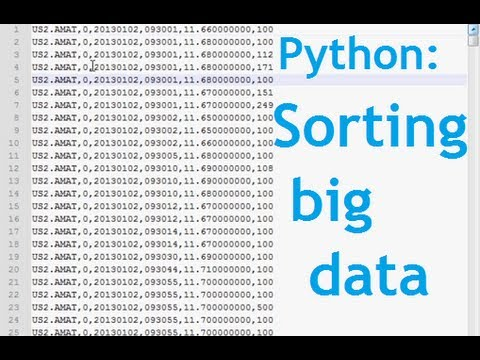 Python Big Data Analytics & Stock Algorithmic Trading Part 1: Big Data Files