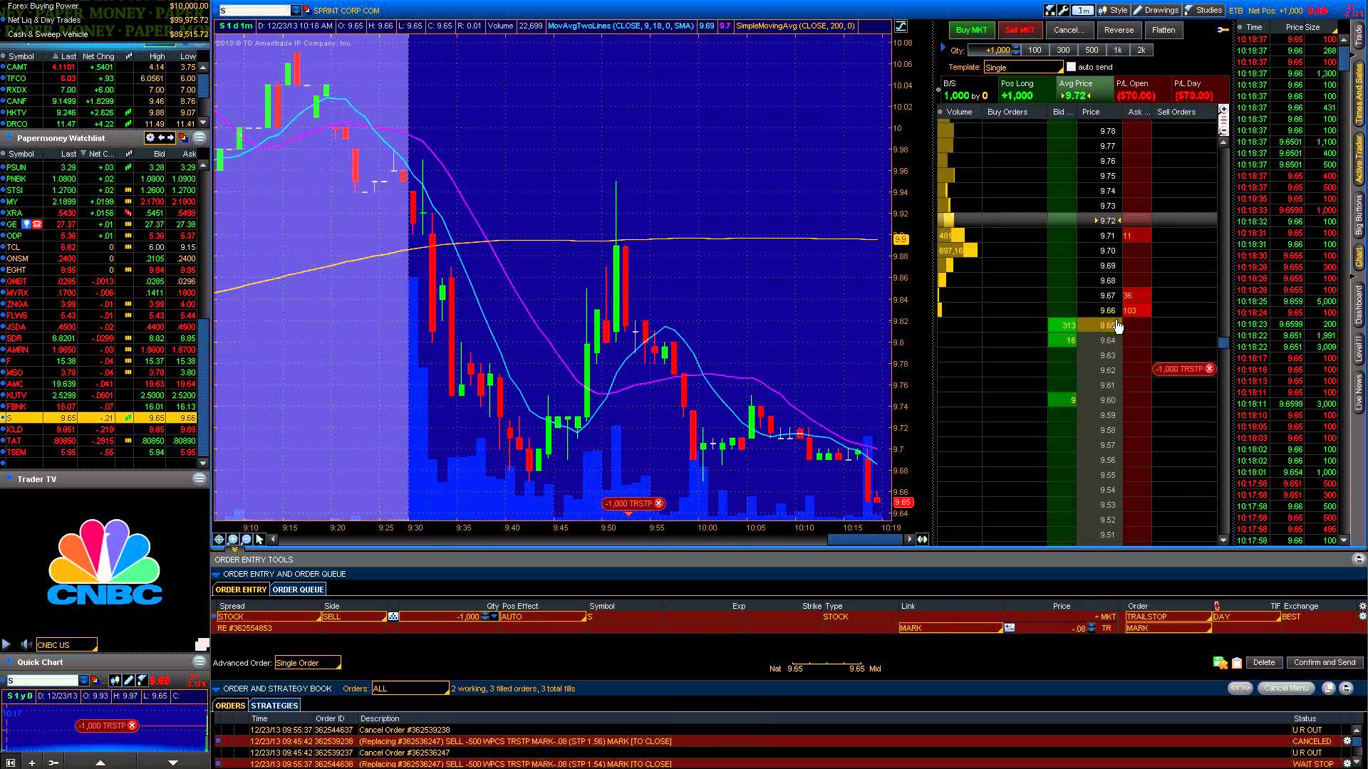 Stock Market Live Day Trading – What are Trailing Stops?