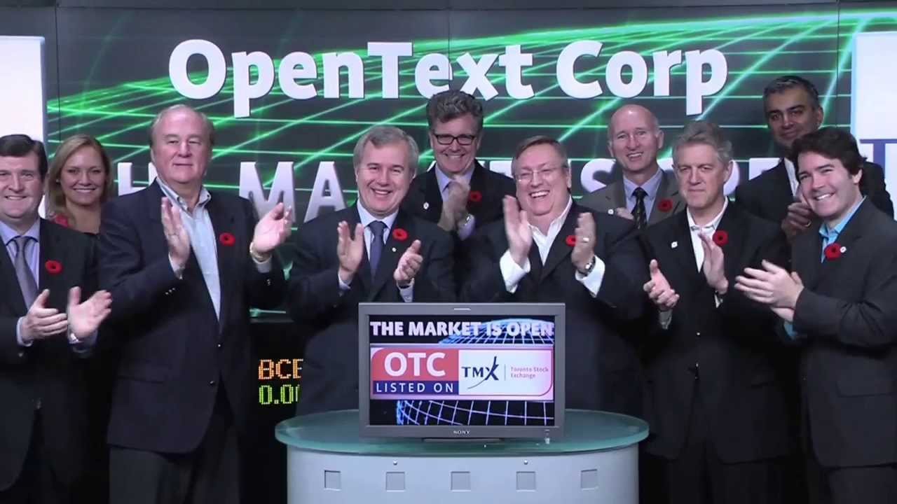 OpenText Corporation (OTC:TSX) opens Toronto Stock Exchange, October 31, 2013.