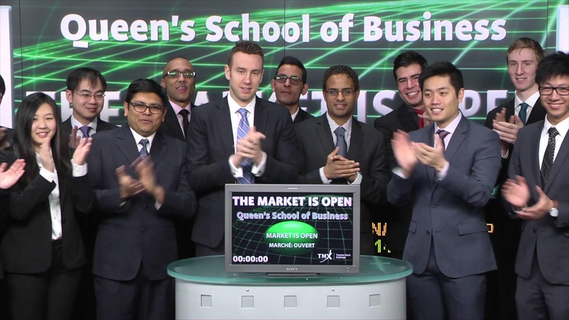 Queen's School of Business opens Toronto Stock Exchange, February 9, 2015.