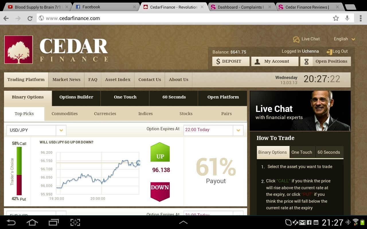 Trading Software Cedar Finance
