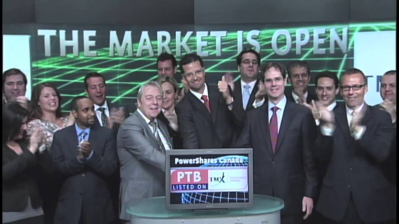 PowerShares Canada (PTB:TSX) opens Toronto Stock Exchange, September 18, 2012.