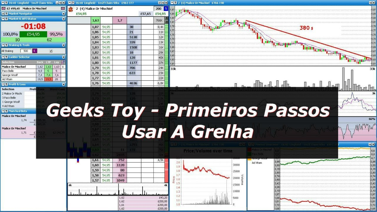 Software de Trading Geeks Toy – Primeiras  Aposta e Usar a Grelha do Geeks