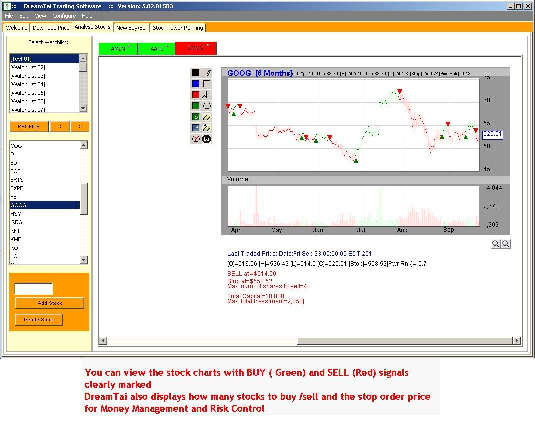 DreamTai  Personal Finance Stock Trading Software