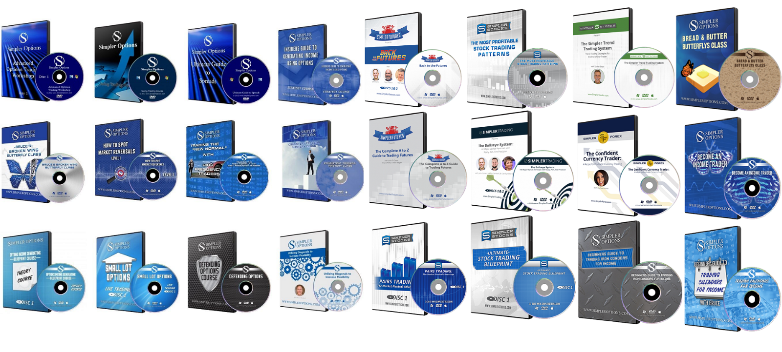 SIMPLER OPTIONS – 24 COURSES MEGAPACK – Trading, Forex and Stocks 24 in 1 Bundle