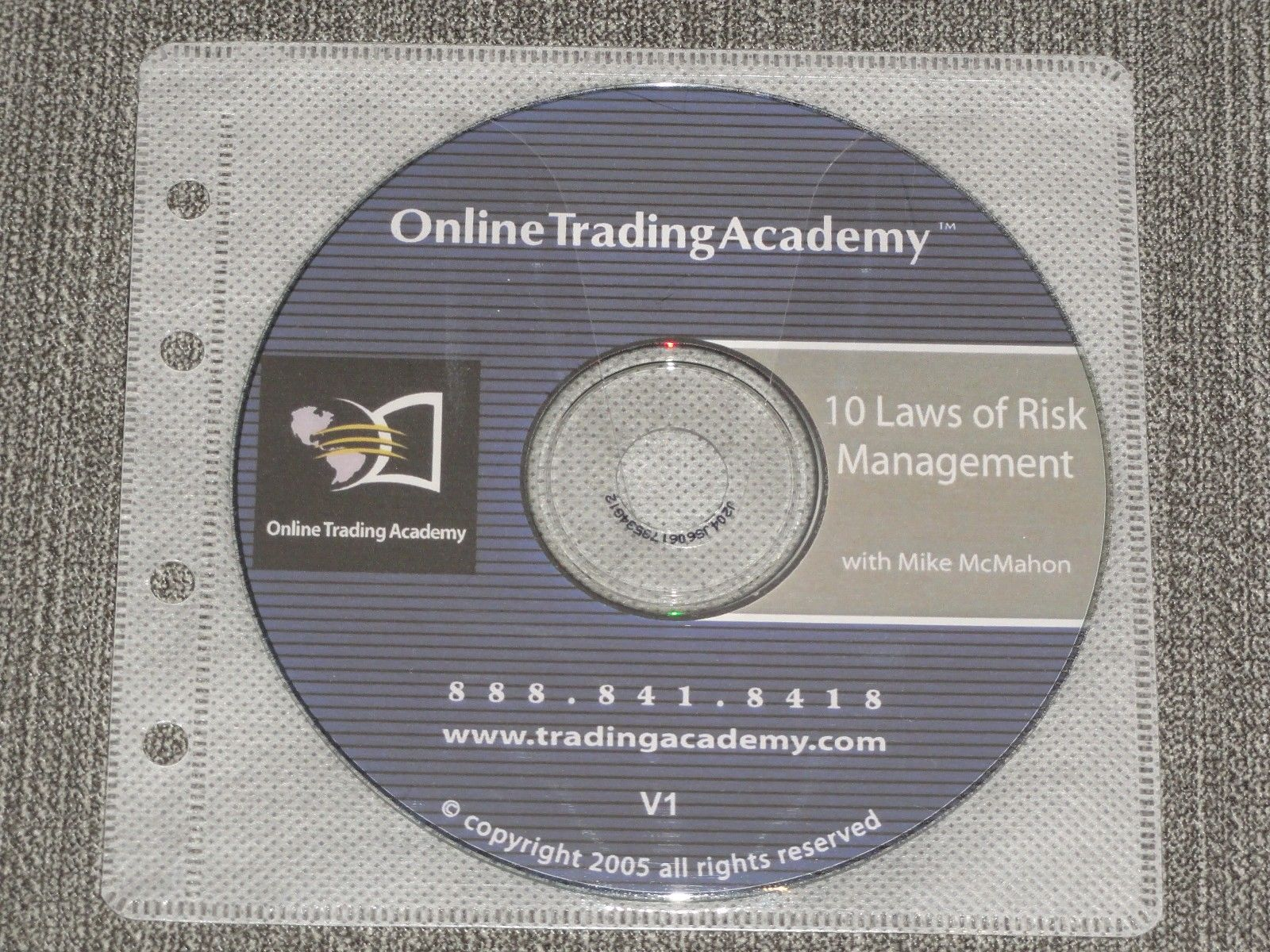 Online Trading Academy Mike McMahon 10 Laws of Risk Management CD stocks options