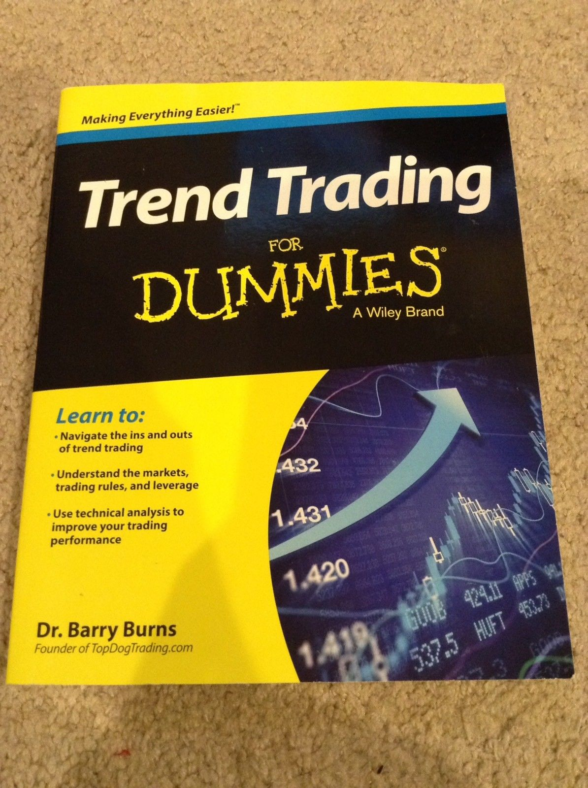 Trend Trading for Dummies by Barry Burns Stocks Paperback Book Free Shipping