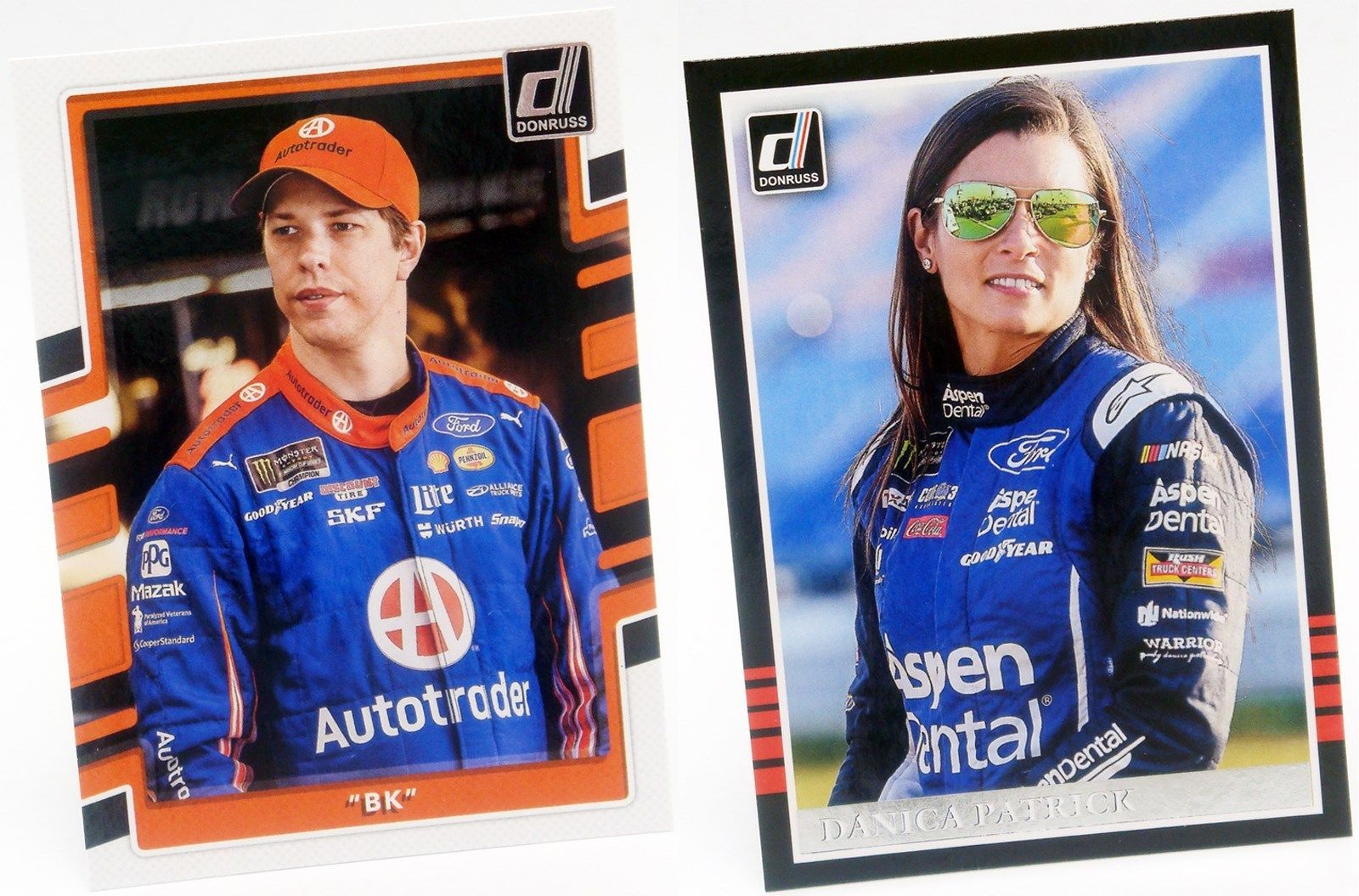 2018 Donruss Base Set Singles NASCAR Stock Car Auto Racing Trading Sports Cards