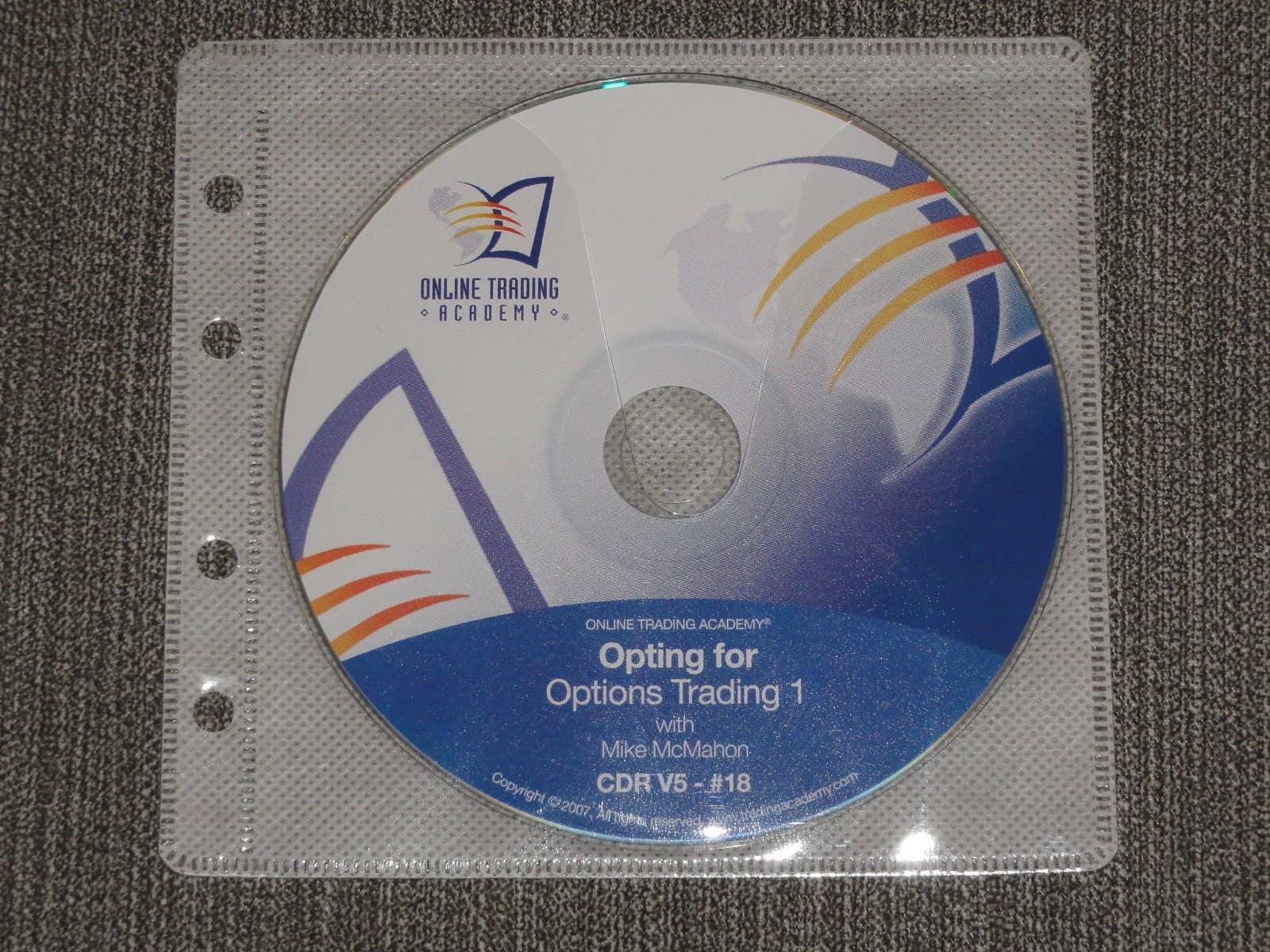 online trading academy Mike McMahon Opting for Options 1 CD stocks simpler forex