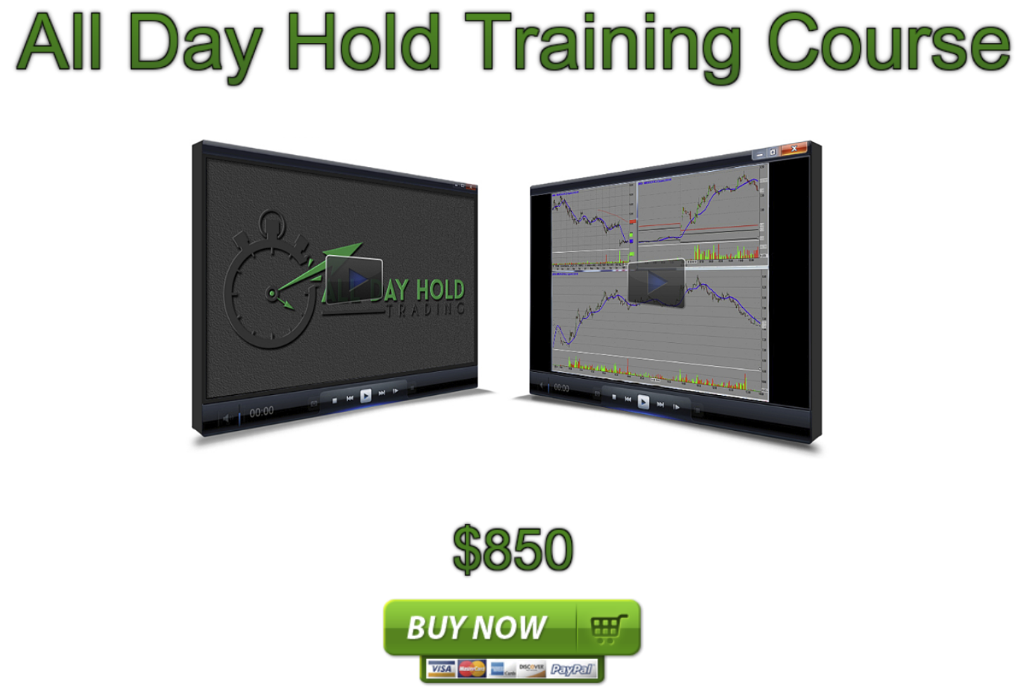All Day Hold Trading Training Course 2 DVD stock market options online forex