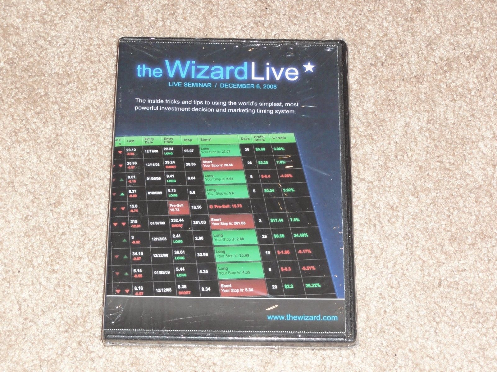 The Wizard Live 3 DVD stock market options day trading qqq trader online academy
