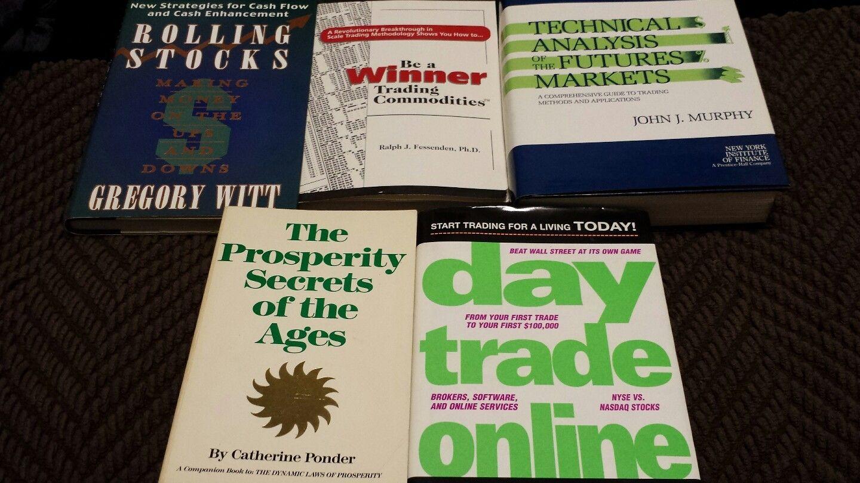 Day trading online,stock market  books. Lot of 5 books
