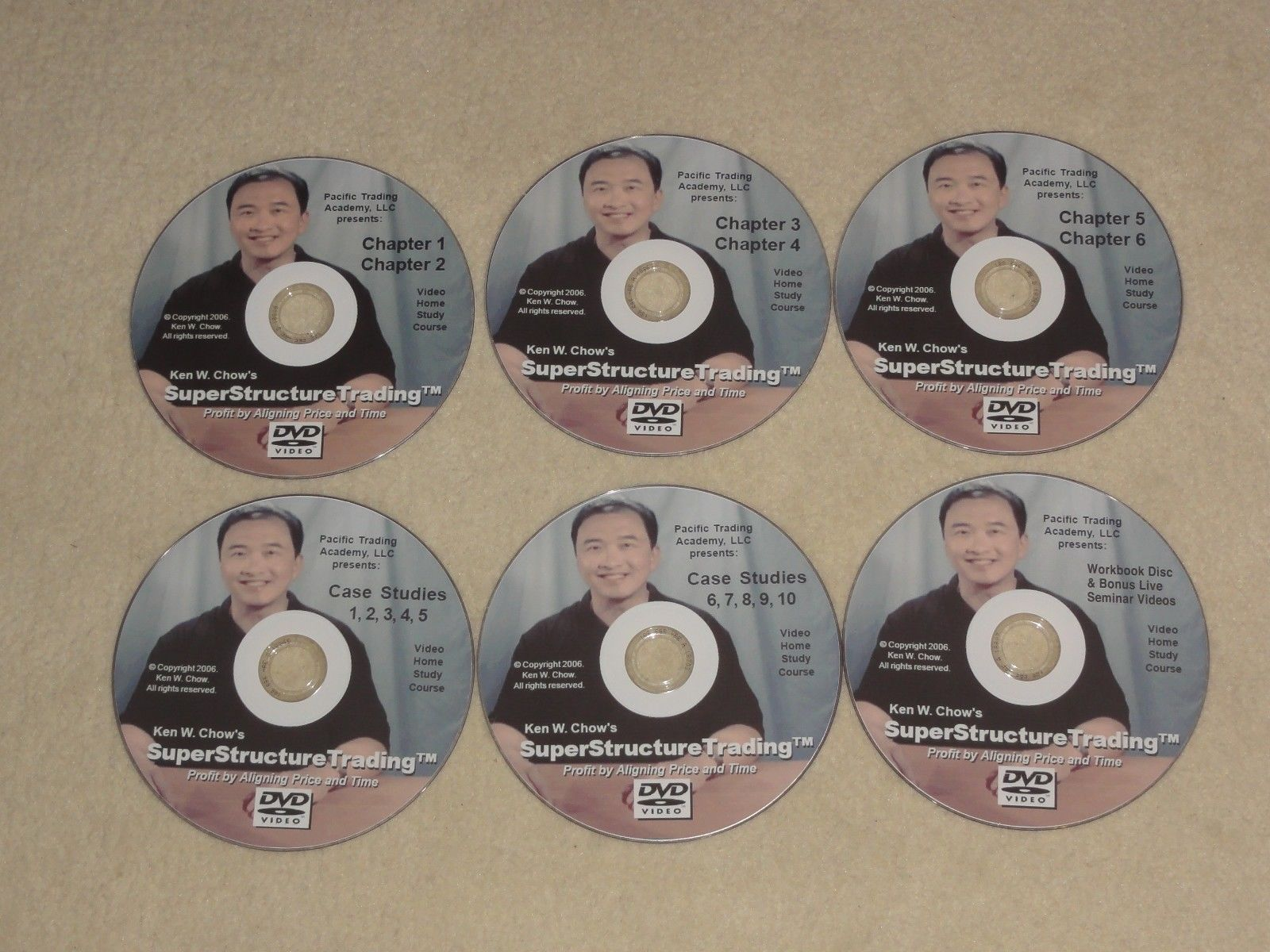 Ken Chow Super Structure Trading Home Study Course $7500 6 DVD Stock Market