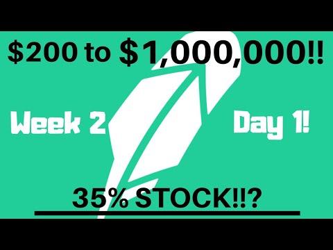 My JOURNEY To $1,000,000 Trading Stocks (Robinhood App) Week 5, Day 1 Swing Trading!!