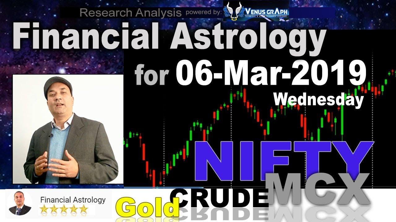 Financial Astrology | Stock Market for 06-Mar-2019 | आर्थिक शास्त्र | Nifty MCX Study 🔥 🔥
