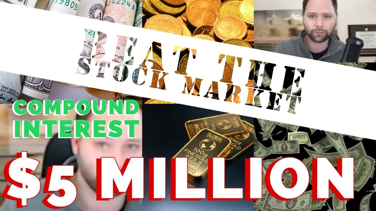 $5 million dollars In the stock market! Dividends reinvested on SPY ETF!! With Compound Interest!!!