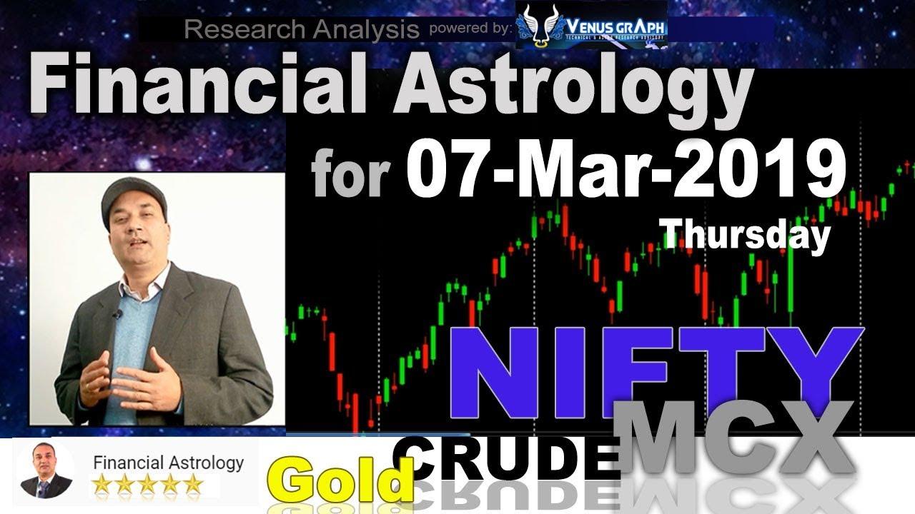 Financial Astrology | Stock Market for 07-Mar-2019 | आर्थिक शास्त्र | Nifty MCX Study 🔥 🔥