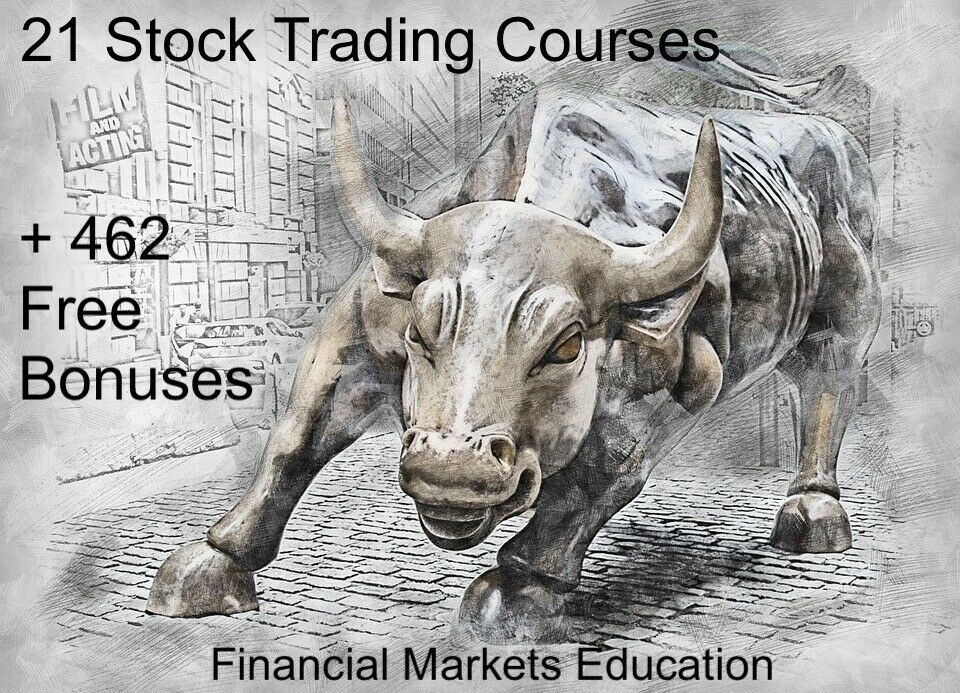 21 Separate Stock Trading Courses |  + 462 FREE BONUS Items | Master Stocks | 3