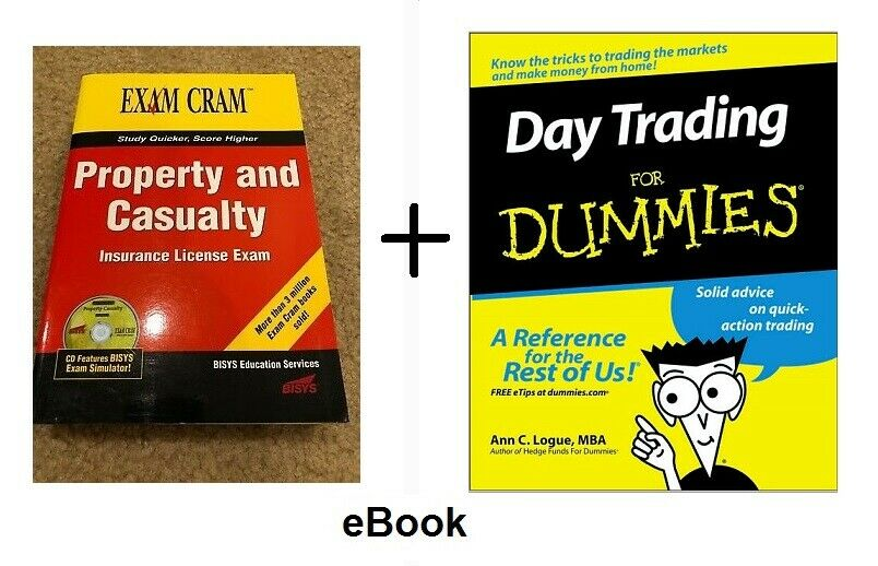 Property Casualty Business + Day Trading For Dummies Idiots Guide EB00KS Stocks