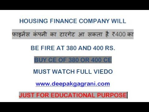 HOUSING FINANCE COMPANY WILL BE BLAST TILL 400 RS CURRENT PRICE BUY CALL OPTION JUST FOR EDUCATIONAL
