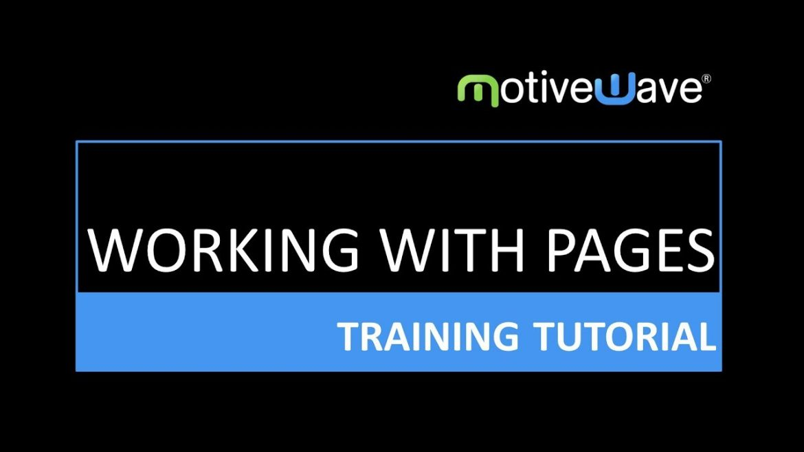 Working With Pages in MotiveWave Trading Platform