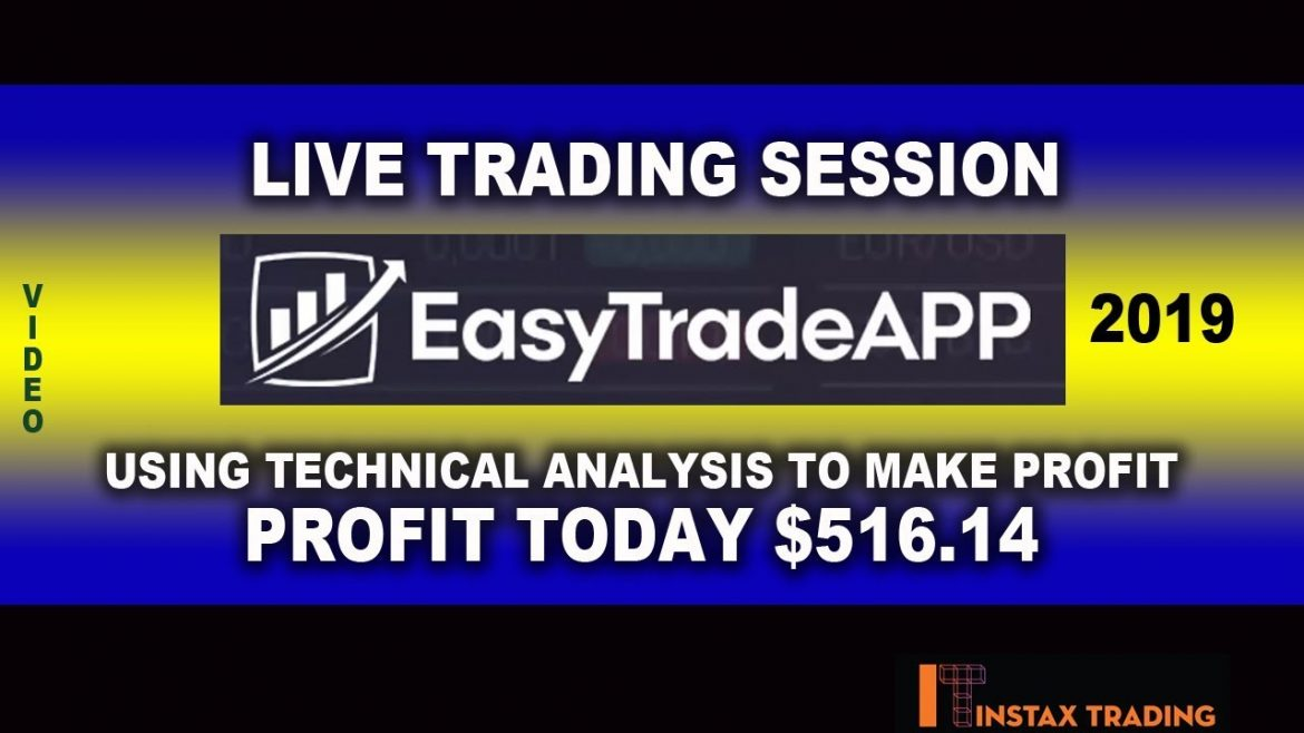 Easy Trade App Live Trading Session -Using Technical Analysis To Profit – Today's Profit is $516.14