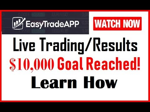 Easy Trade App – Live Action Trading & Results ($10K Goal Reached)