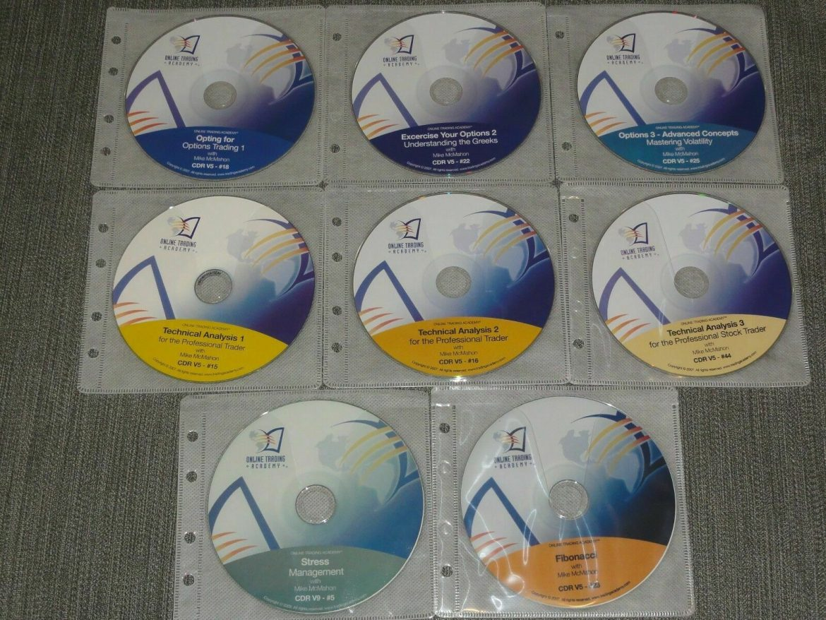 Online Trading Academy Professional Options Trader Library 8 CD Set stock market
