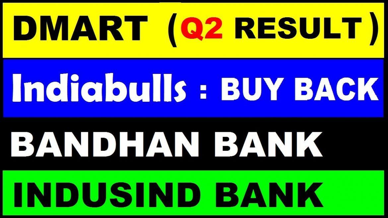 ( DMart Q2 Result) ( Indiabulls Buy Back 😨 ) ( Bandhan Bank) ( indusind bank) stock news by SMkC