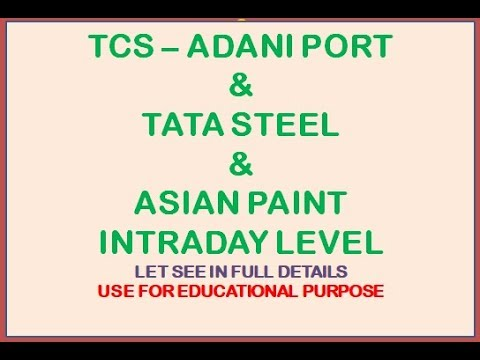 TCS   TATA STEEL   ASIAN PAIN   ADANI PORT AND MANY MORE FNO STOCK FOR TODAY AND FEW DAYS TRADING JU