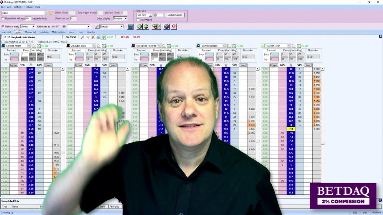 BETDAQ Exchange: Free Trading Software – Bet Angel's Ladder Screen