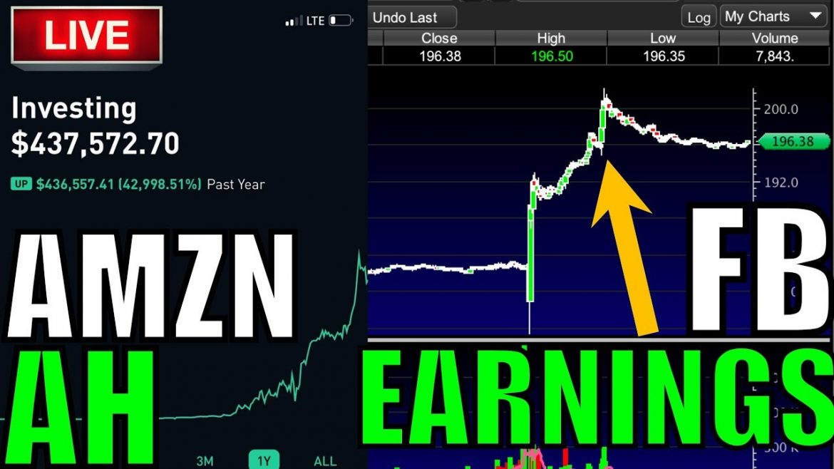 LIVE: AMZN Earnings – Live Trading, Day Trading, Option Trading LIVE,  Stock News & Stocks To Trade!