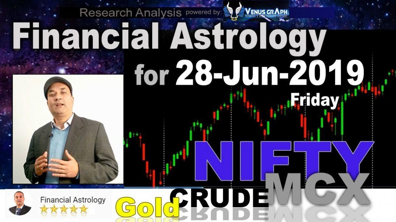 Financial Astrology | Stock Market for 28-Jun-2019 | आर्थिक शास्त्र | Nifty MCX Study 🔥 🔥