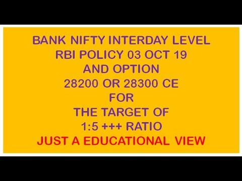 BANK NIFTY CALL OPTION ON RBI POLICY DAY ON 03 OCT FOR BUMPER GAIN RATIO WOULD BE 1:5 OR MORE SL