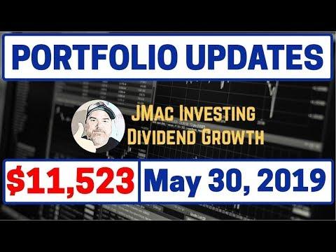 Portfolio Updates 5/30/2019 | Dividend Stocks | Dividend Growth | Stock Market