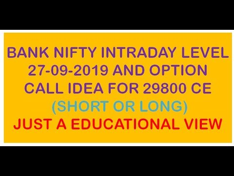 BANK NIFTY INTRADAY LEVEL AND OPTION VIEW IF LEVEL WILL BREAK BANK NIFTY 29800 CE JUST A VIEW ONLY