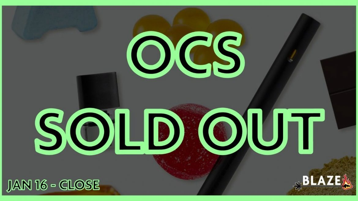 Stock Market Review – OCS Sells Out of Cannabis Marijuana 2.0 Products