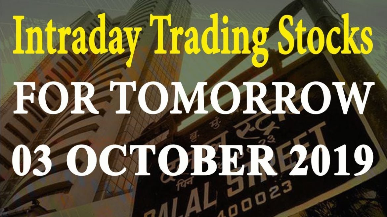 Intraday Trading Tips 03 October 2019| Stock market news | Share market news |