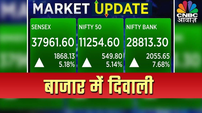 Market Live: Nirmala Sitharaman के ऐलान के बाद बाजार दिवाली, Sensex करीब 1800 अंक ऊपर