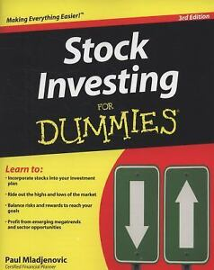 Stock Investing for Dummies by Paul Mladjenovic (2009, Trade Paperback)